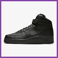 Женские кроссовки Nike Air Force High Black, фото 1