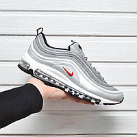 Мужские кроссовки в стиле Nike Air Max 97 Silver серебристые
