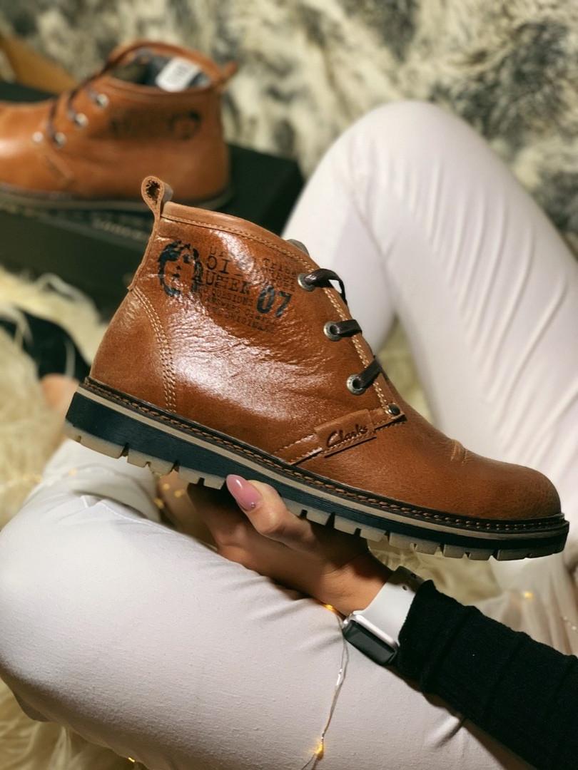 "Зимние ботинки на меху Clarks Urban Tribe Desert Boot ""Brown"" (Коричневые)"
