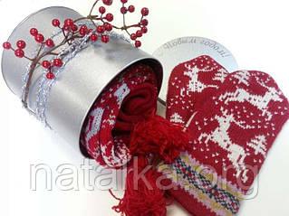 Корпоративные подарки с новогодней символикой — шарфы, варежки. Подарите тепло свои коллегам