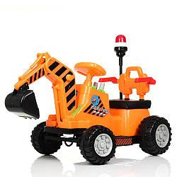 Трактор M 4143L-7 (1шт) 1мотор25W, 1аккум6V4,5AH, муз, свет, MP3, кож.сиденье, оранж.
