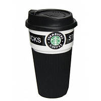 Термокружка керамическая UTM с крышкой Starbucks Black