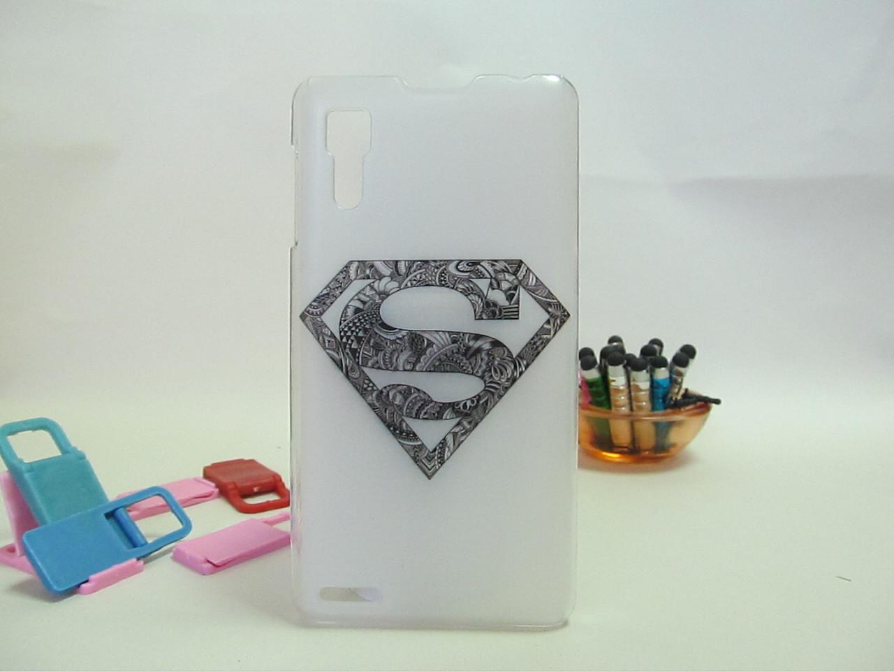 Пластиковый бампер панель накладка чехол для Lenovo P780 Superman