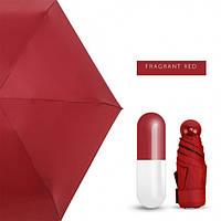 Мини-зонт в капсуле Capsule Umbrella mini Красный, фото 1