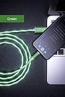 Светодиодный светящийся магнитный USB кабель зарядки
