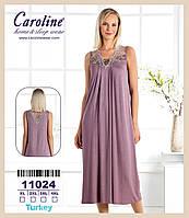 """Длинная ночная сорочка """"Caroline"""" XL-4XL"""