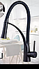Смеситель кухонный SANTEP 12905 Черный с силиконовым изливом