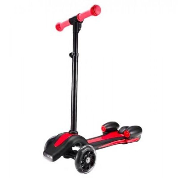 Детский самокат UTM с турбиной, светящимися колесами, музыкой и Bluetooth Red