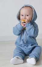 Комбинезон слип детский с подкладкой на молнии, хлопок 100%, рост 80, 8-12 мес.