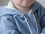 Комбинезон слип детский с подкладкой на молнии, хлопок 100%, рост 80, 8-12 мес., фото 4