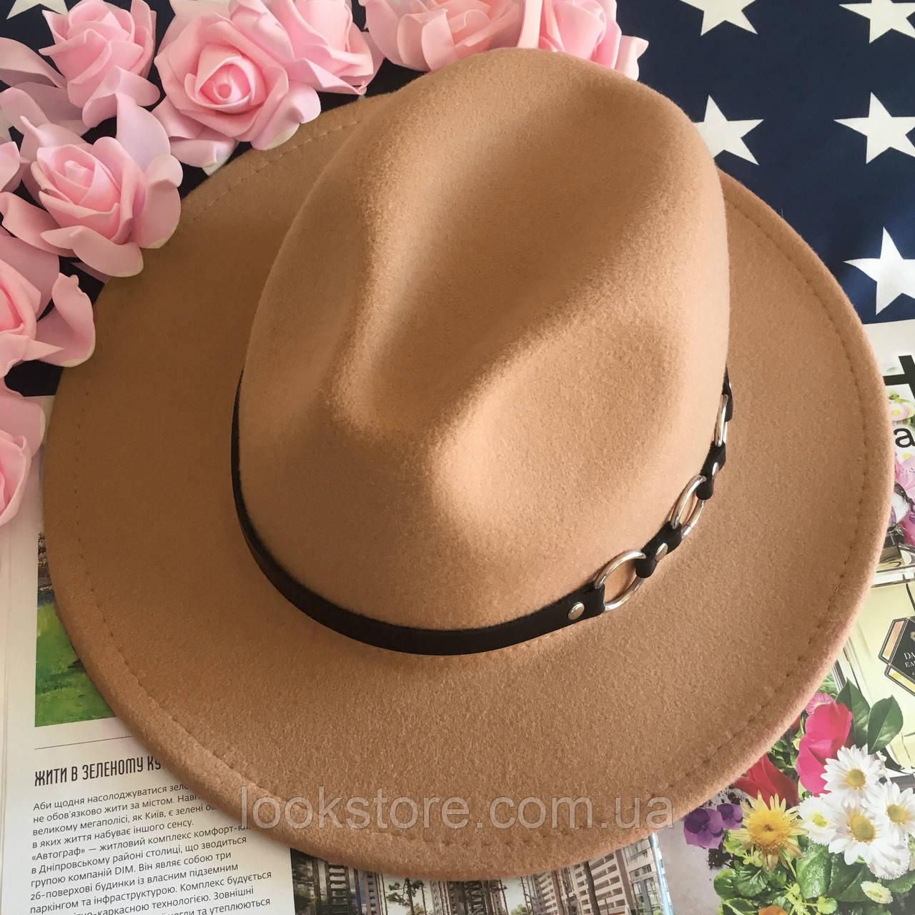 Шляпа Федора унисекс с устойчивыми полями Rings бежевая