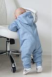 Комбинезон слип детский с подкладкой на молнии, хлопок 100%, рост 80, 8-12 мес., фото 3