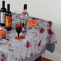 Скатерть с пятнами крови из марли