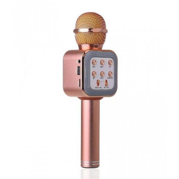 Беспроводной микрофон-караоке WS-1818 Pink