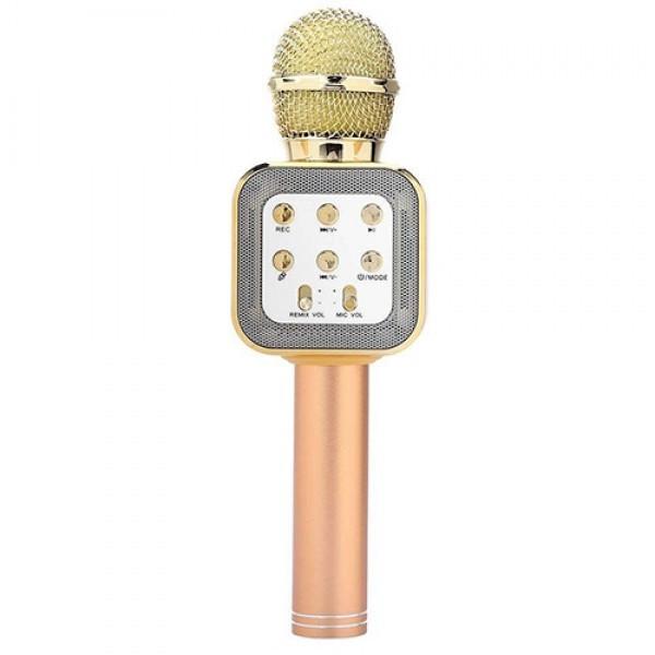 Беспроводной микрофон-караоке WS-1818 Gold