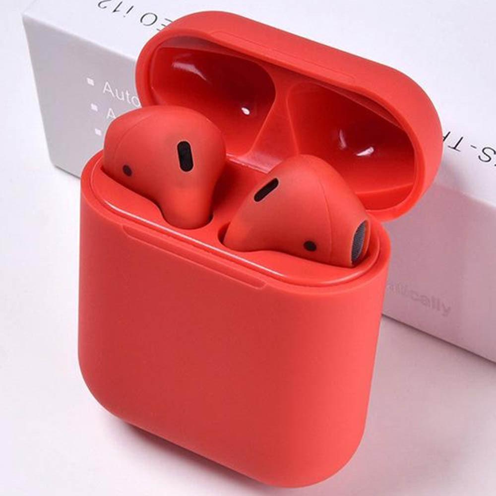 Беспроводные сенсорные наушники TWS AirPods i12 Красные
