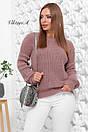 Вязаный женский свободный свитер со спущенным плечом 81ddet653, фото 2