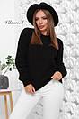 Вязаный женский свободный свитер со спущенным плечом 81ddet653, фото 5
