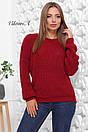 Вязаный женский свободный свитер со спущенным плечом 81ddet653, фото 6