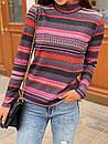 Женский полосатый гольф из рибаны 73ddet662, фото 3