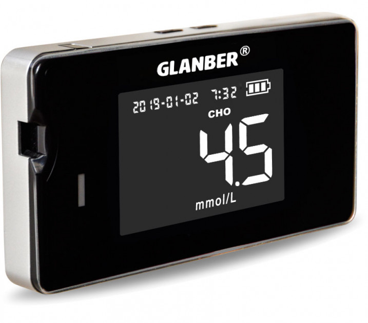 Глюкометр 4х1 глюкоза, гемоглобин, холестерин, мочевая кислота GLANBER