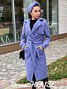 Женское Пальто кашмировое на запах под пояс 5pal234, фото 2