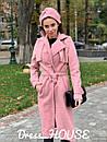 Женское Пальто кашмировое на запах под пояс 5pal234, фото 3