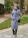 Женское Пальто кашмировое на запах под пояс 5pal234, фото 4