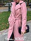Женское Пальто кашмировое на запах под пояс 5pal234, фото 5