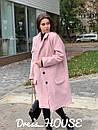 Буклированное Пальто оверсайз с отложным воротником 5pal235, фото 4
