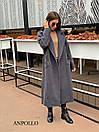 Кашемировое Пальто женское миди под пояс с отложным воротником 17pal236, фото 7