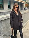 Короткое женское кашемировое Пальто под пояс с лацканами 17pal237, фото 2