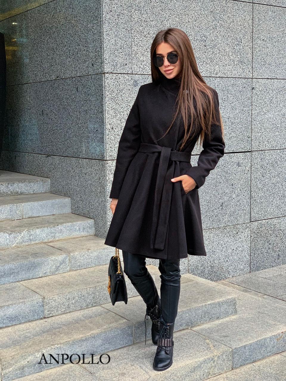 Женское кашемировое Пальто с расклешенным низом 17pal238