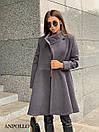 Женское кашемировое Пальто с расклешенным низом 17pal238, фото 6