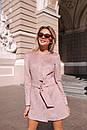 Замшевое платье на пуговицах и с поясом 14pal227, фото 2