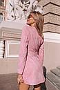 Замшевое платье на пуговицах и с поясом 14pal227, фото 4