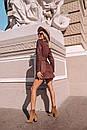 Замшевое платье на пуговицах и с поясом 14pal227, фото 5