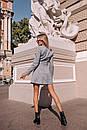 Замшевое платье на пуговицах и с поясом 14pal227, фото 6