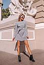 Замшевое платье на пуговицах и с поясом 14pal227, фото 7