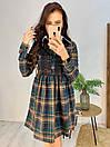 Платье в клетку с расклешенной юбкой и рубашечным верхом 58pal232, фото 2