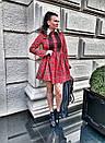 Платье в клетку с расклешенной юбкой и рубашечным верхом 58pal232, фото 4
