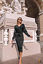Платье - футляр длиной миди с длинным рукавом на манжете 31pal240, фото 5