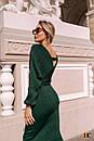 Платье - футляр длиной миди с длинным рукавом на манжете 31pal240, фото 6