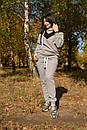 Теплый женский спортивный костюм на флисе из плетеного трикотажа 57spt796, фото 3