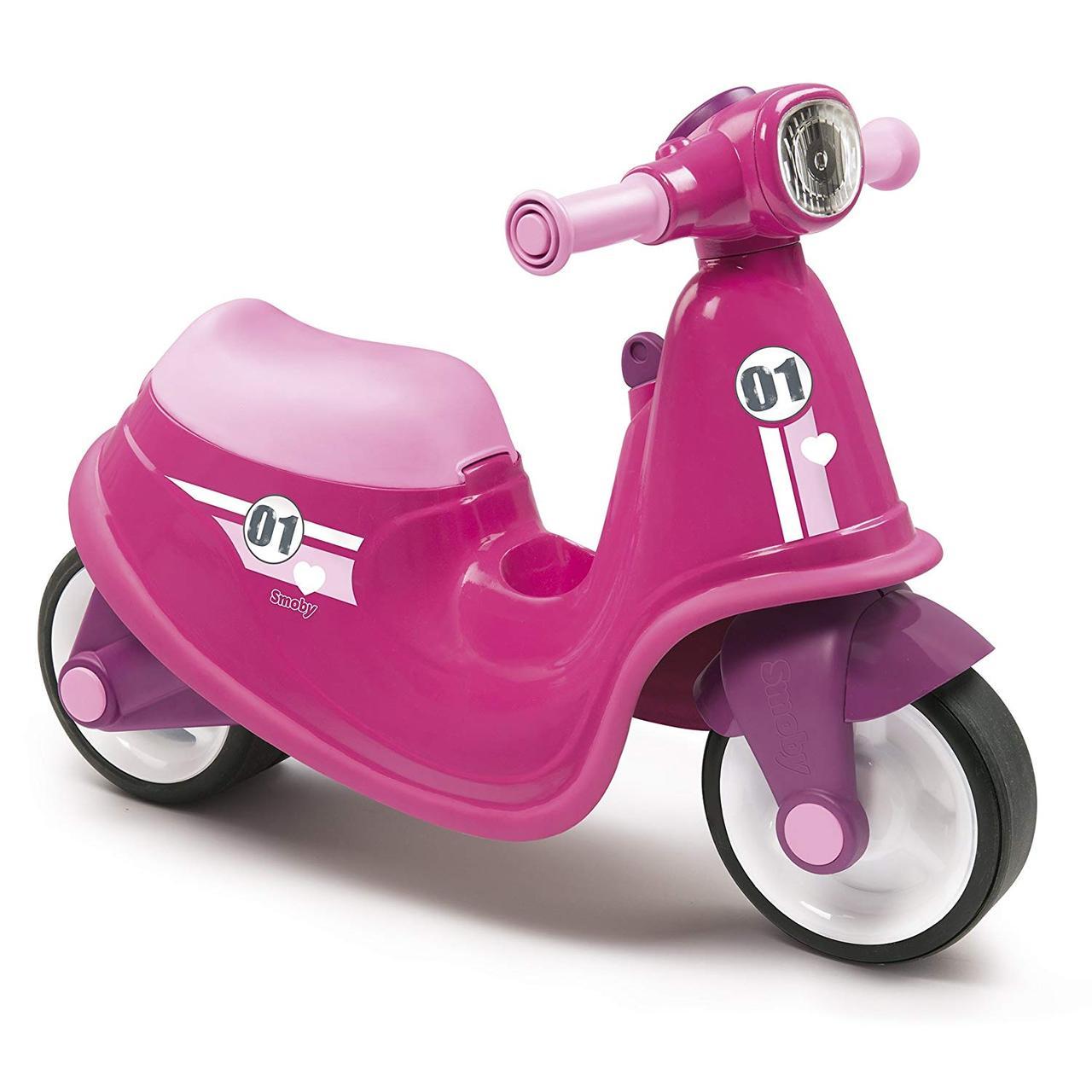Детский беговел (2-колесный, до 19 кг), розовый - Scooter Holde Smoby, 18м+ (721002)