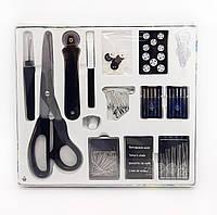 F1-00135, Набор для шитья, швейный набор, 202 предмета  в коробке , , черный-металлик