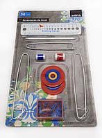 F1-00153, Спицы для вязания, набор 36 аксессуаров, , металлик