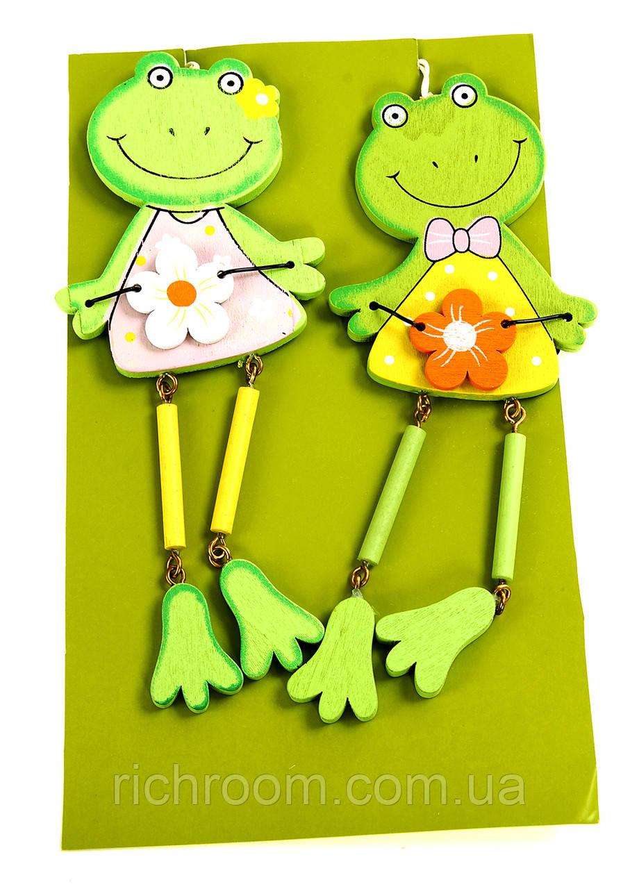 """Декоративная игрушка """"Лягушонки"""", 2 шт,, Melinera, весенний декор, пасхальное украшение"""