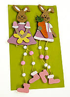 """Декоративная игрушка """"Кролики новогодние"""", 2 шт,, Melinera, весенний декор, подвеска, украшение"""