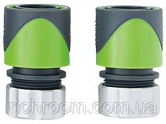 """Набір коннекторів для шлангу 13 мм 1/2"""" (2 шт), муфта, з'єднувач Florabest,"""
